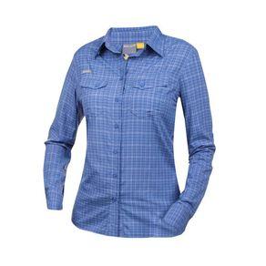 camisa-solo-xadrez-ml-azul-feminina