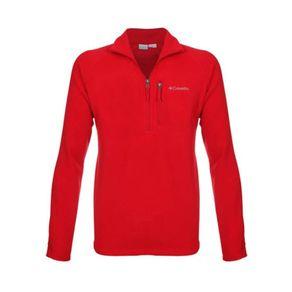 blusa_columbia_fast_trek_iii_fleece_zip_half_vermelho_frontal_4